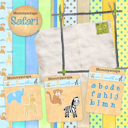 safari digital scrapbooking freebie